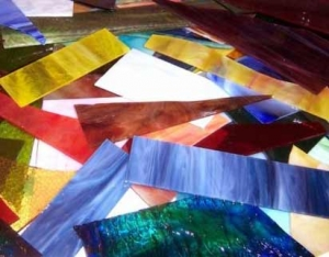scrap stained glass supplies